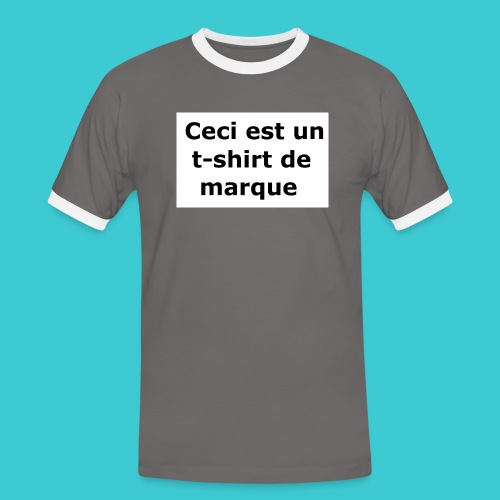 t-shirt2 - T-shirt contrasté Homme