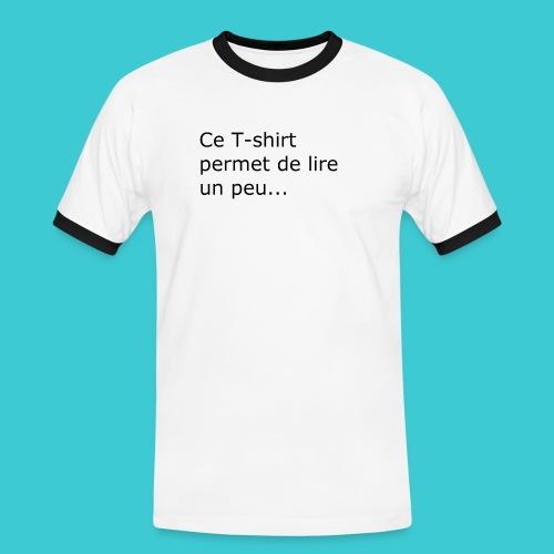 t shirt3 - T-shirt contrasté Homme