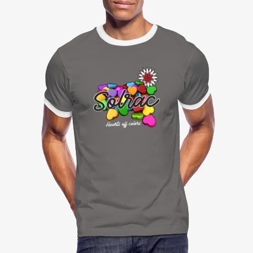 SOLRAC Hearts black - Camiseta contraste hombre