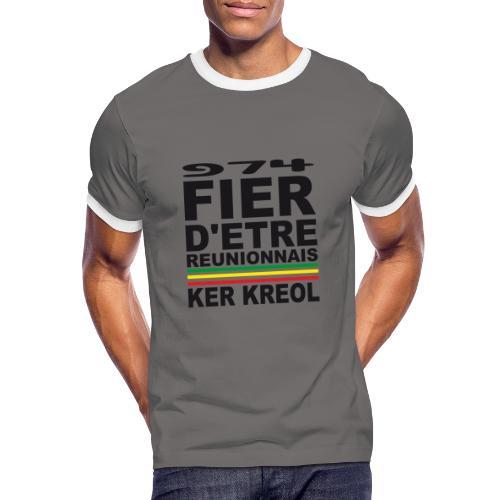 974 Fier d'être Réunionnais - 974 Ker Kreol v1.2 - T-shirt contrasté Homme