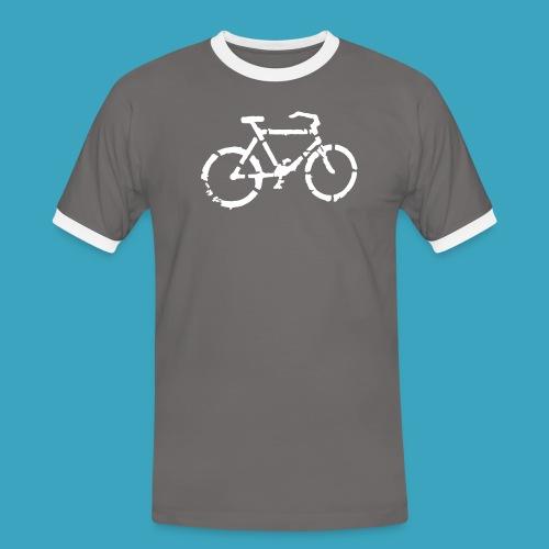 Fahrrad Pikto - Männer Kontrast-T-Shirt