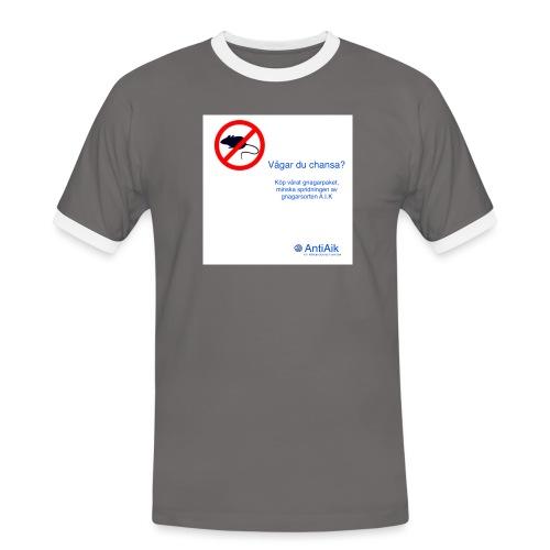 AntiAik - Kontrast-T-shirt herr