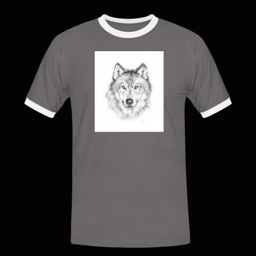 Wolf - Herre kontrast-T-shirt