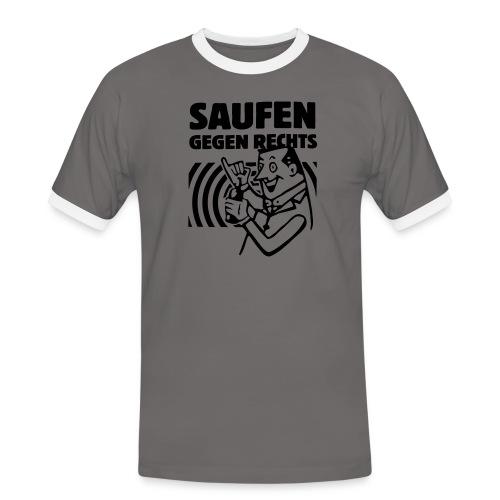 Saufen gegen Rechts - Männer Kontrast-T-Shirt