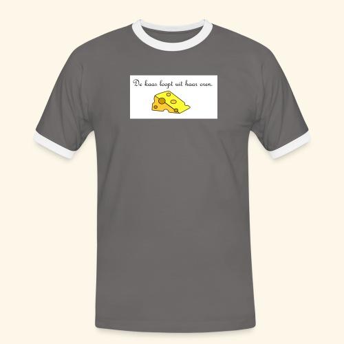 Kaas loopt uit haar oren - Temptation - Mannen contrastshirt
