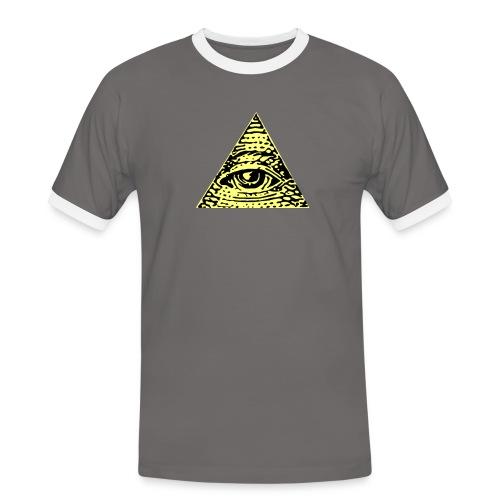 Illuminati - Kontrast-T-shirt herr