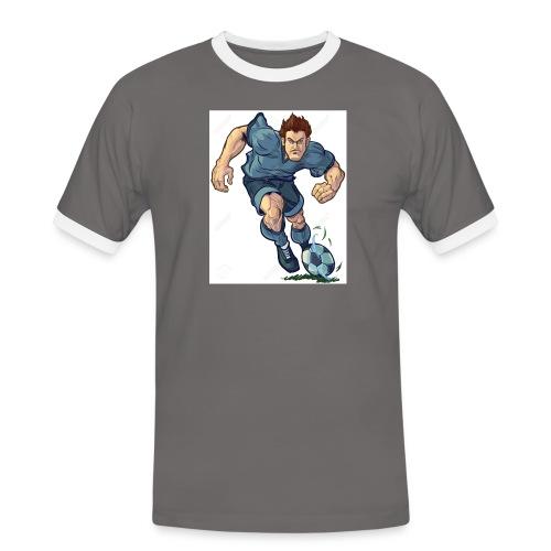 41982995-Vector-de-dibujos-animados-ilustraci-n-de - Camiseta contraste hombre