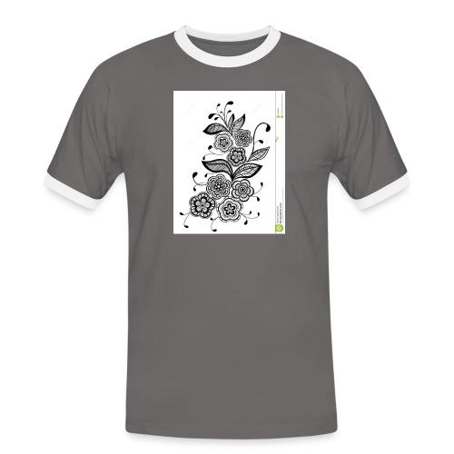 diseño de flores - Camiseta contraste hombre