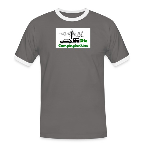 campingjunkies png - Männer Kontrast-T-Shirt
