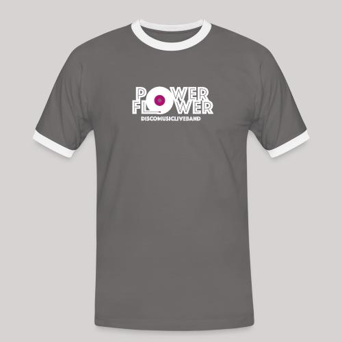 Logo PowerFlower bianco e fuxia - Maglietta Contrast da uomo