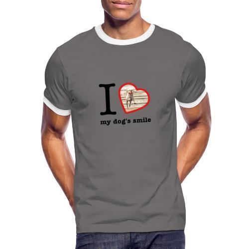 I love my dog's smile :) dog smile - Men's Ringer Shirt