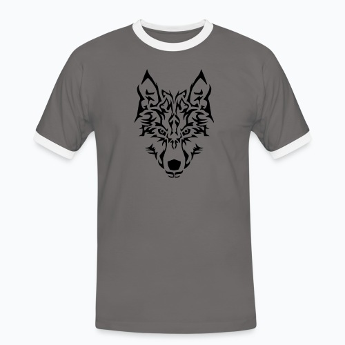 Tribal Wolf - T-shirt contrasté Homme