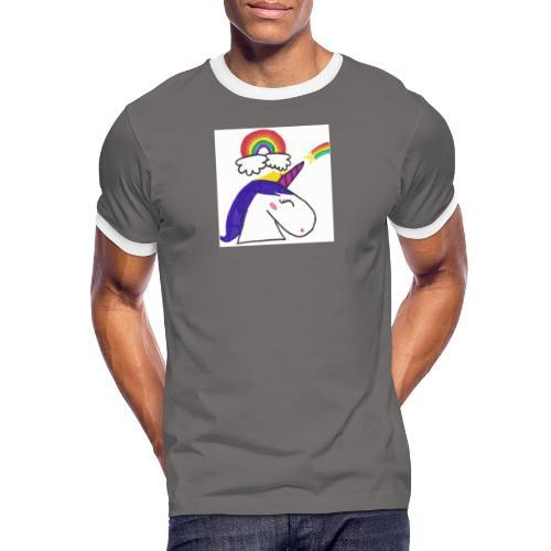 Unicorno arcobaleno - Maglietta Contrast da uomo