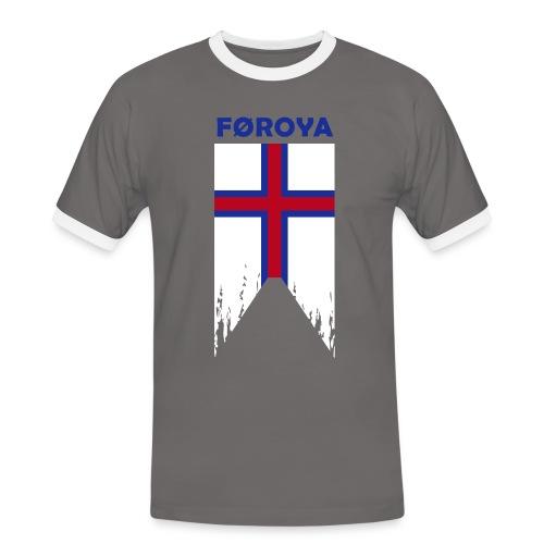 Færøerne flosset flag - Men's Ringer Shirt