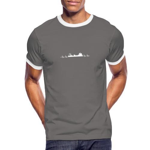 Med hart de slæ for Kloste! - Herre kontrast-T-shirt