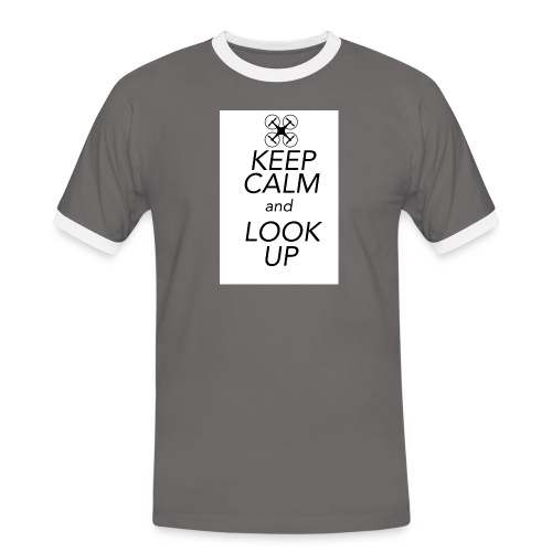Keep Calm and Look Up - Mannen contrastshirt