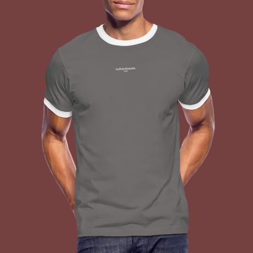 boffaboffaboffa hvit tekst - Kontrast-T-skjorte for menn