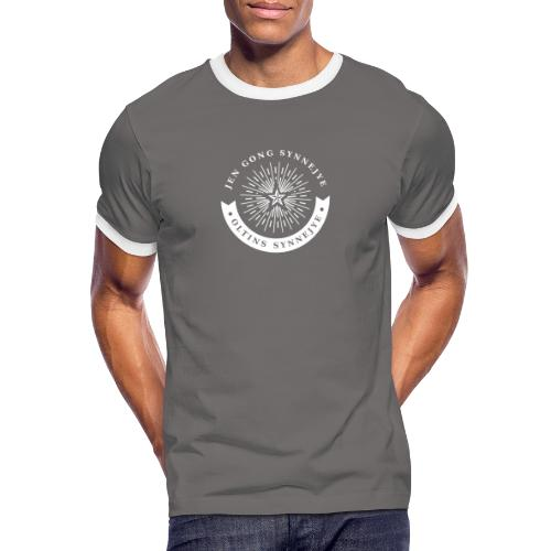 Jen Gong synnejye... Oltins synnejye! - Herre kontrast-T-shirt