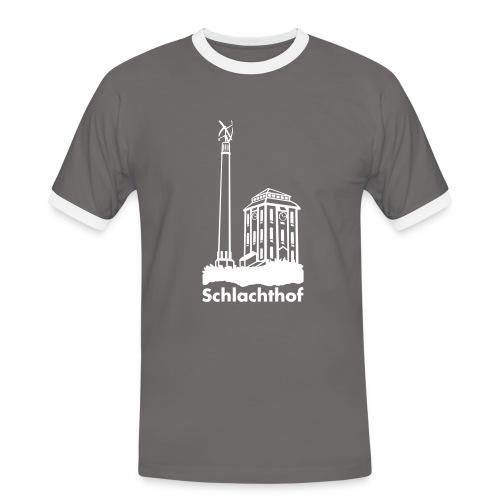 logo mit windrad - Männer Kontrast-T-Shirt