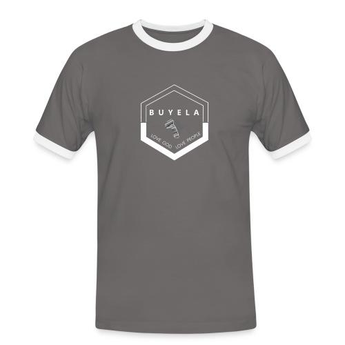 Buyela hexagon - Männer Kontrast-T-Shirt