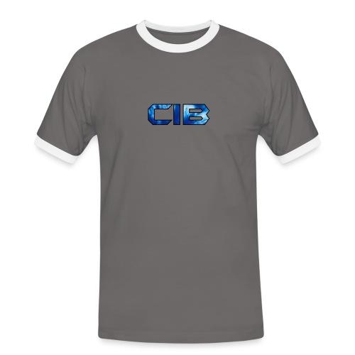 CuzImBacon blå farget logo - Kontrast-T-skjorte for menn