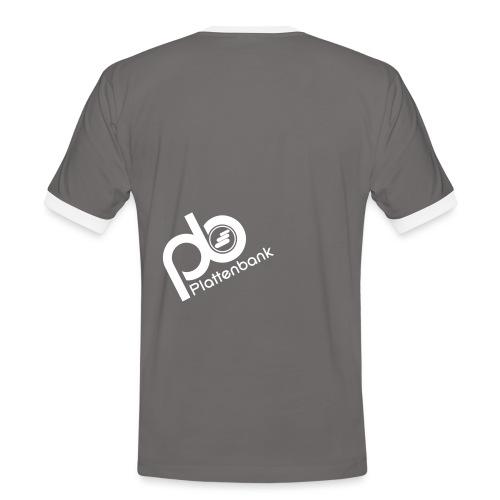 pb logo neg text - Men's Ringer Shirt
