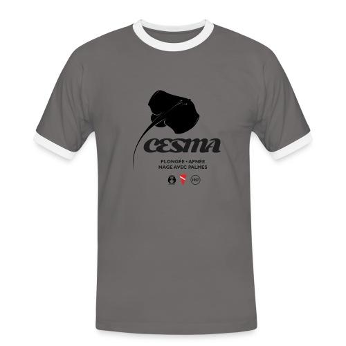 raie torpille-logo-cesma - T-shirt contrasté Homme
