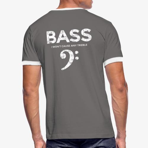 BASS I wont cause any treble (Vintage/Weiß) - Männer Kontrast-T-Shirt