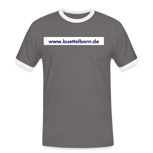 Schriftzug www buettelborn de - Männer Kontrast-T-Shirt