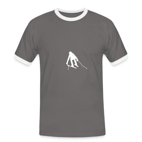 Skifahrer SuperG solo Strand Shop - Männer Kontrast-T-Shirt