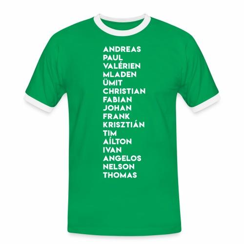 2003/04 Doublesieger Team - Männer Kontrast-T-Shirt