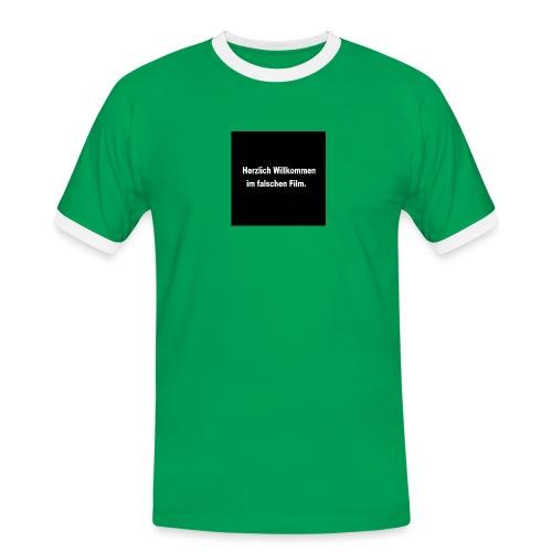 Willkommen im Falschen Film - Männer Kontrast-T-Shirt