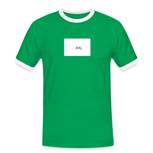 Test Design - Männer Kontrast-T-Shirt