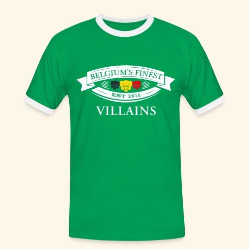 BelgiumFinestEst2015Villains white - Men's Ringer Shirt