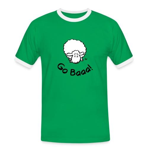 Schafe gehen Baaa! - Männer Kontrast-T-Shirt