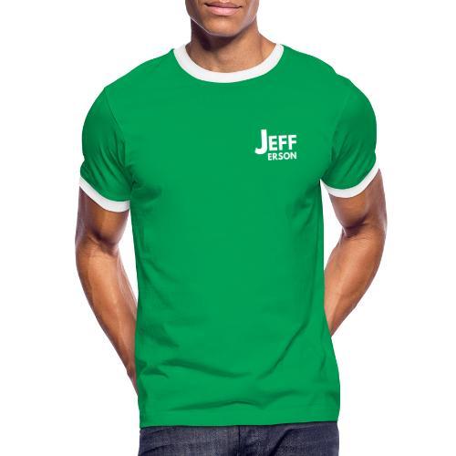 Jefferson logo klein (wit) - Mannen contrastshirt