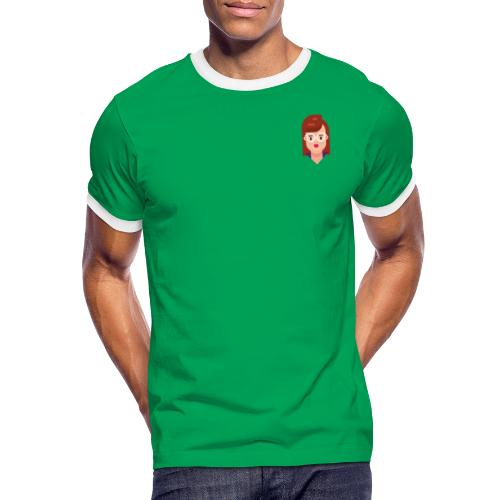 Vanessa Kollektion - Männer Kontrast-T-Shirt