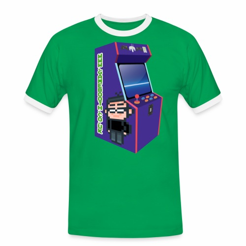 Game Booth Arcade Logo - Men's Ringer Shirt