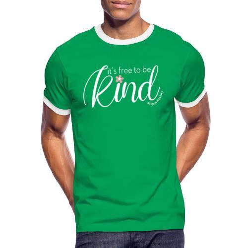 Amy's 'Free to be Kind' design (white txt) - Men's Ringer Shirt