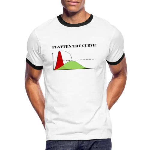 Flatten the curve - Men's Ringer Shirt