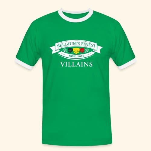 BelgiumFinestEst2015Villains wit - Men's Ringer Shirt