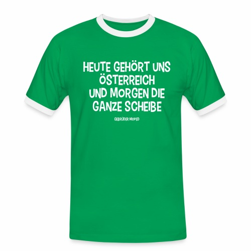 Scheibe Österreich - Männer Kontrast-T-Shirt
