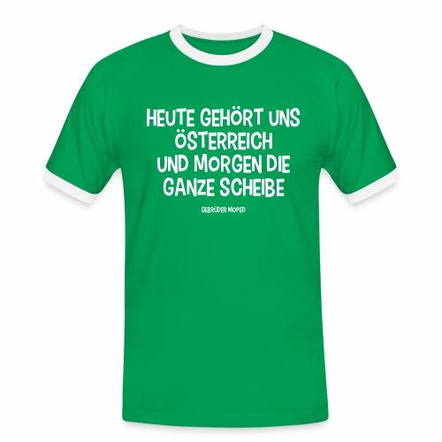 Und morgen die ganze Scheibe - Männer Kontrast-T-Shirt