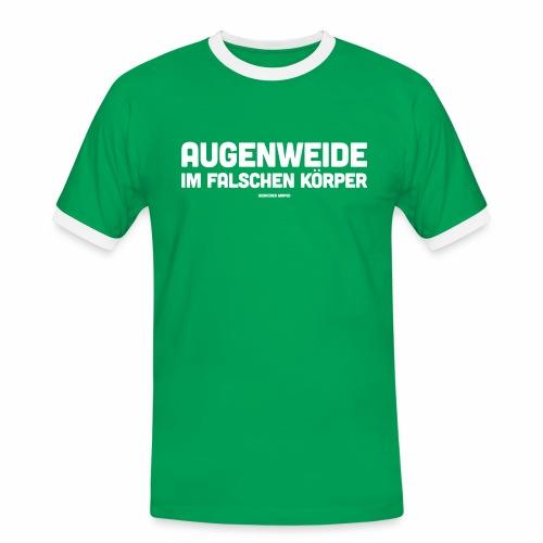 Augenweide - Männer Kontrast-T-Shirt