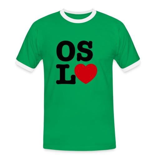 Oslove - OSL♥ - Kontrast-T-skjorte for menn