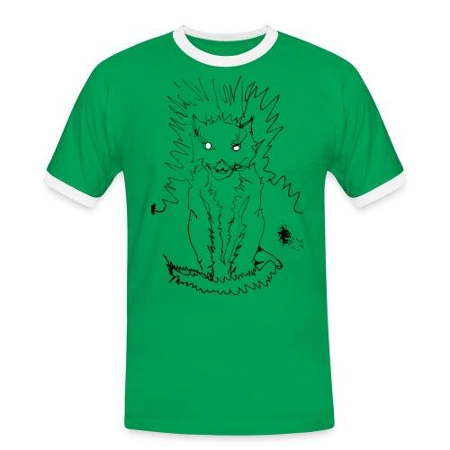 der graue Katzer - Männer Kontrast-T-Shirt