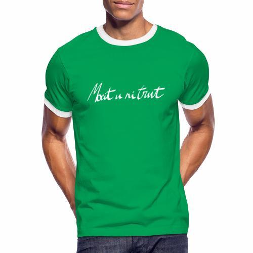 moeit u ni trut - Mannen contrastshirt
