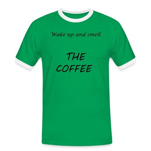 t-shirt coffeesmell - T-shirt contrasté Homme