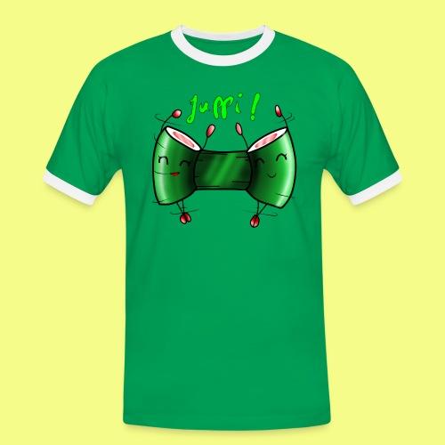 Sushi rollen - Männer Kontrast-T-Shirt