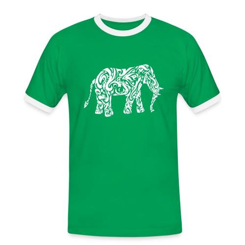 Tribal Eléphant - T-shirt contrasté Homme